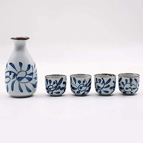 Juego de Sake de Porcelana de cerámica de Estilo japonés, Olla de Vino, Licor para el hogar, Vino Retro, Taza de Agua, vajilla, Porcelana, cerámica, Botella de Sake, decoración del hogar, ma