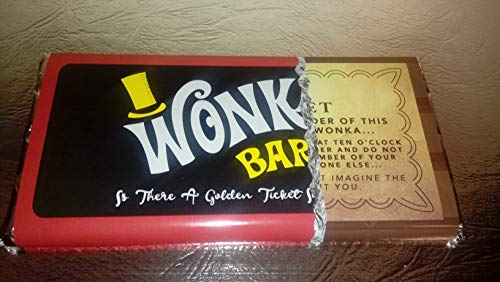 WILLY WONKA with GOLD TICKET ON WRAPPER and INSIDE