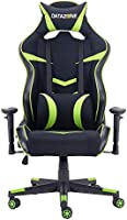 Gaming chair with adjustable armrest for player comfort Black/Green