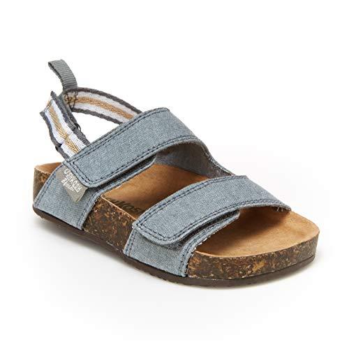 OshKosh B'Gosh Baby-Boy's Glesner Sandal, Blue/White, 8 Toddler