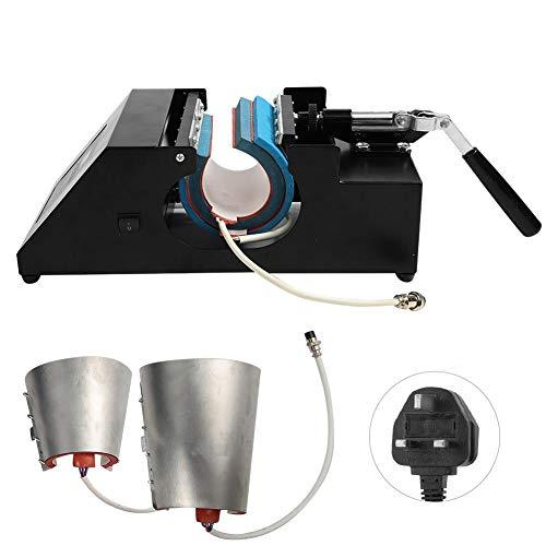 Impresora de Tazas, Sublimación de Transferencia Digital 4 en 1 Taza Taza Prensa de Calor Impresora de…