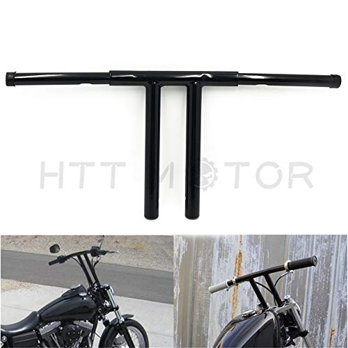 HTTMT HB017-II- Black 14 Inches Rise T-Bars Handlebar Drag Bar Compatible with Harley FLST FXST Sportster Dyna