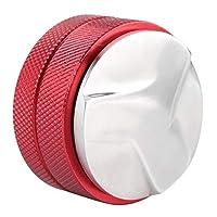 base di manomissione delle parti di ricambio della macchina del caffè dello strumento di distribuzione del caffè dell'acciaio inossidabile di 58mm con tre pendenze ad angolo(rosso)