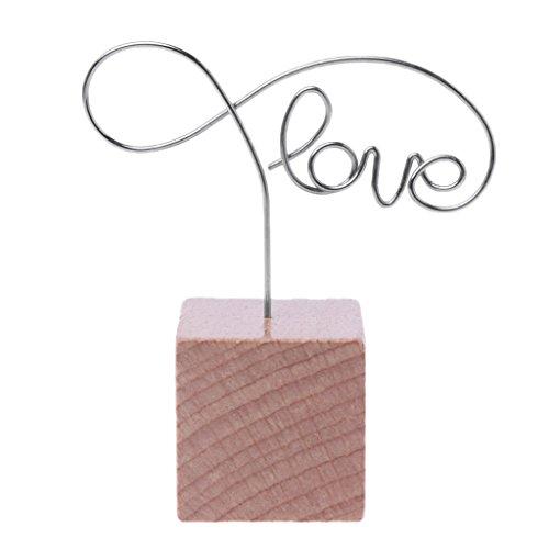 FKY metalen woorden houten memoclips fotohouder klemmen desktop message craft briefpapier 7,5cm/2,95in liefde