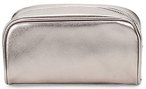 Saks Fifth Avenue Textured Zip Pouch Charcoal Makeup Bag