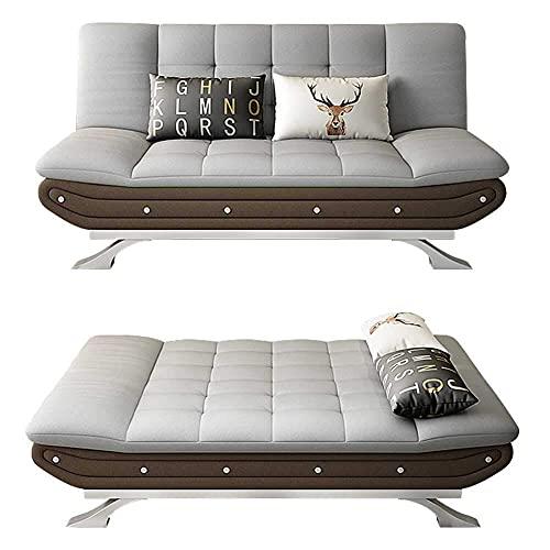 Futon Sofa Bed - Sofá Cama Convertible Sofá Cama con Respaldo Ajustable y Patas de Metal - Comodidad para huéspedes en casa Muebles de Asiento Compacto