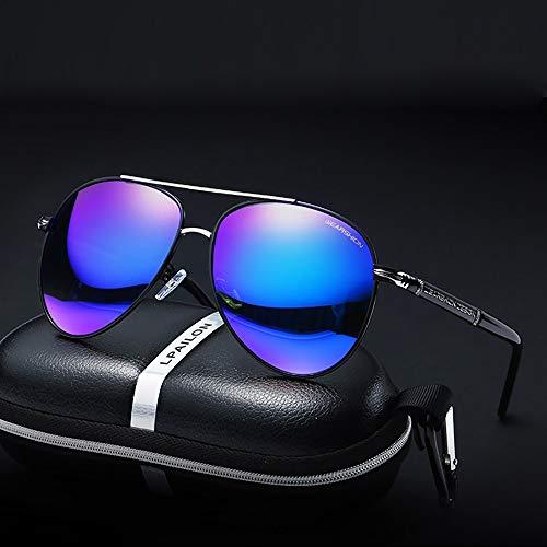 JIAGU Gafas de Sol de Estilo Gafas de Sol, señoras, Hombres, conducción, conducción, Gafas de Sol polarizadas, Espejo de Rana (Color : Purple, Size : Free Size)