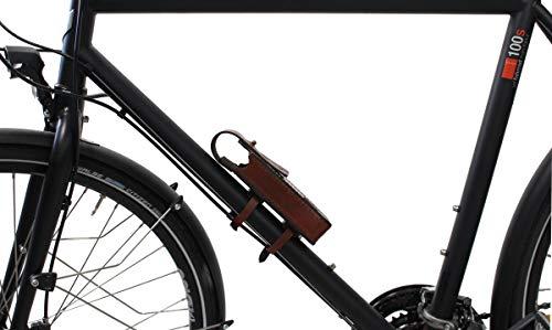 Gusti Fahrradschloss Tasche Leder - Laurent F. Zubehör Fahrrad inkl. Halterung Hülle Schlosstasche Bike