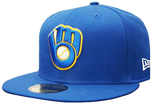 New Era Milwaukee Brewers Glove M Royal Cap 59fifty Fitted Limited Exclusive