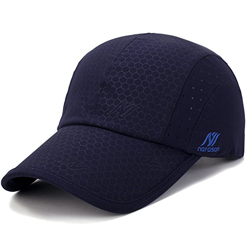 KimTime verstellbar Mütze Schnelltrocknende Schirmmütze UV-Schutz Kappe für Herren...