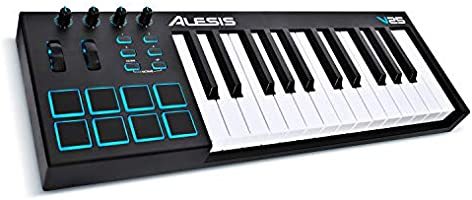[US Deal] Save on Alesis V25   25-Key USB MIDI Keyboard Controller with Backlit Pads, 4 Assignable Knobs and Buttons,...