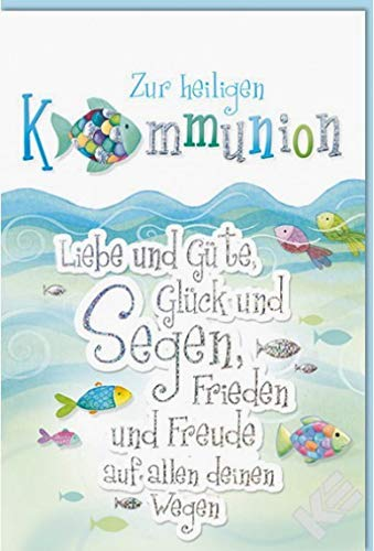 Kurt Eulzer Glückwunschkarte zur Kommunion Güte, B6 + Umschlag