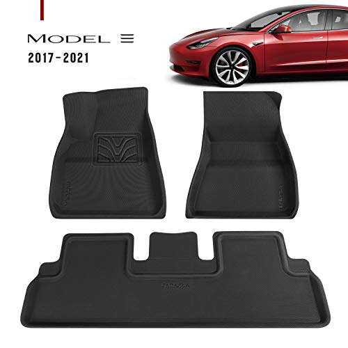 Farasla Upgraded All-Weather Floor Mats for 2017 2018 2019 2020 2021 Tesla Model 3