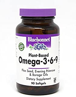 BlueBonnet Plant Based Omega 3-6-9 Softgels, 1000 mg, 90 Count