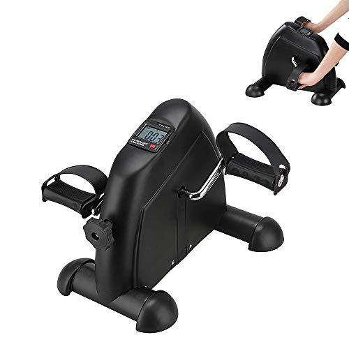 YUSDP Mini-Pedal-Trainingsgerät mit LCD-Display - leichtes Design, einstellbare Widerstandskraft, verbesserte Koordination beim Training der Beine, Arme