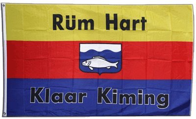 Flagge Deutschland Nordfriesland Rüm Hart klaar Kiming - 90 x 150 cm
