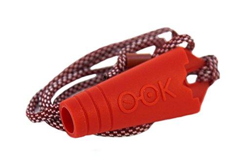 Kit 2 portaocchiali in silicone atossico e anallergico, KIT PORTAOCCHIALI O-OK DOPPIO 100% made in Italy, portaocchiali da auto con clip per fissaggio e portaocchiali persona con laccetto (Rosso Nero)
