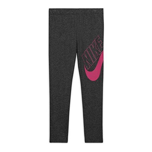 Nike CU8943-032 G NSW Favorites GX Legging Leggings Girls Black Heather/(Fireberry) M
