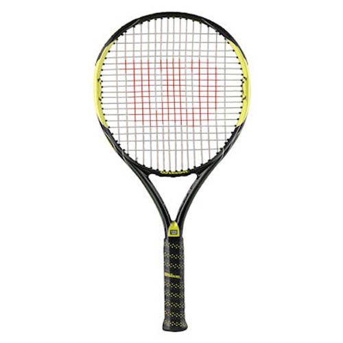 Wilson Pro Team WRT7952004 - Raqueta de Tenis para Hombre (k), Grip 4, Color Blanco y Verde
