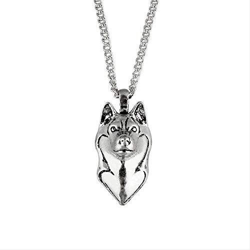 Yiffshunl Collar Alaskan Malamute Collar de Dibujos Animados Perro Husky Siberiano Colgante...
