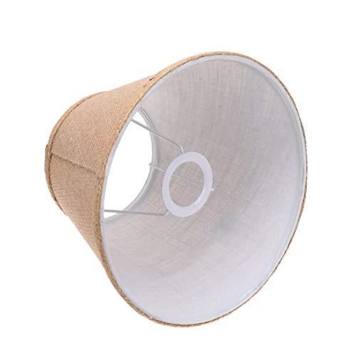 FRCOLOR - Pantalla de tela para lámpara E27, color caqui