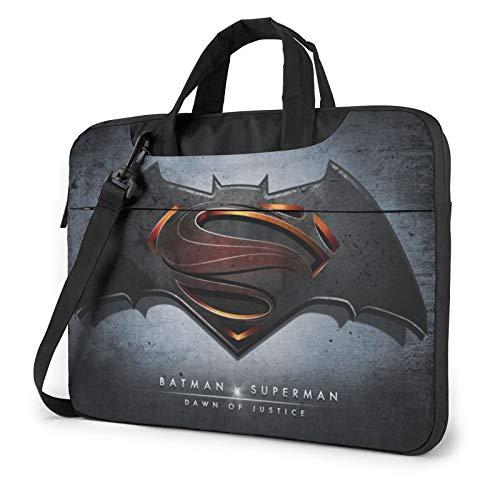B-at-Man V Su-Per-Man 13-15.6 Inch Laptop Sleeve Case Laptop Shoulder Bag, Slim Computer Carry Case Polyester Briefcase Sleeve with Adjustable Shoulder Strap
