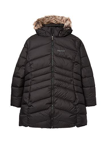 Marmot Montreal Women's Knee-Length Down Puffer Coat, Fill Power 700, Jet Black, Medium