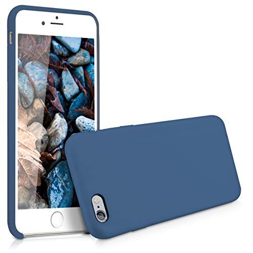 kwmobile Funda para Apple iPhone 6 Plus / 6S Plus - Carcasa de TPU para móvil - Cover Trasero en Azul Oscuro