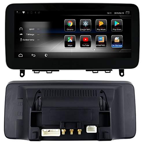 KasAndroid - AUTORADIO Android per Mercedes Classe C W204/S204 anno 2013 NTG 4.5 + Modem 4G incluso (SIM) + Schermo extra largo 10,25' / Quad Core 2GB RAM 16GB ROM/GPS Auto DVD Internet NAVI USB