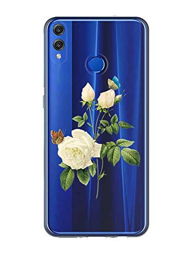 Oihxse Case Transparente Suave TPU Compatible con Huawei Enjoy 9 Funda [Lindo Caricatura...