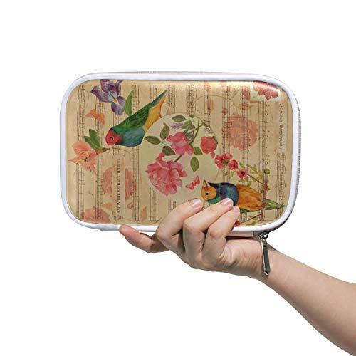Kleine Mädchen Make-up Fall viktorianischen Stil Collage Postkarte Aquarell Zeichnungen Reißverschluss Kosmetiktasche Kleine Make-up Tasche für Geldbörse Multifunktionale Multifunktionale Bleistift T