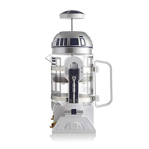 TTZY R2-D2 Máquina de café Perforadora de Mano para el hogar Cafetera Olla Percolator Star Wars R2-D2 Mini cafetera cafetera de Aislamiento 1pc, cafetera