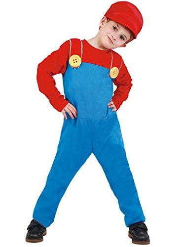 Disfraz de maquinista de tren Mario para nio - 7-9 aos