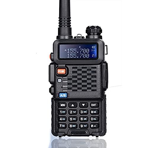 HJWL Walkie Talkie Policía Radio De Dos Vías 5W Pofung Talkie Mano UHF VHF De Banda Dual Al Aire Libre De Largo Alcance Jamón Transceptor