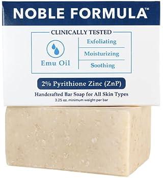 Noble Formula 2% Pyrithione Zinc  ZnP  Original Emu Bar Soap 3.25 oz