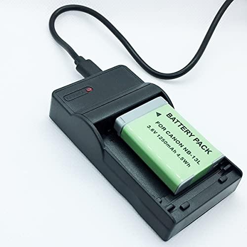 Cámaras Quick Battery Pack y USB Rapid Travel Baterías cargador Kit de repuesto compatible con Canon para cámaras digitales PowerShot G7 X Mark 2, G9 X Mark 2, G7X MkII, G9X MkII, G7XM2, G9XM2 Accesso