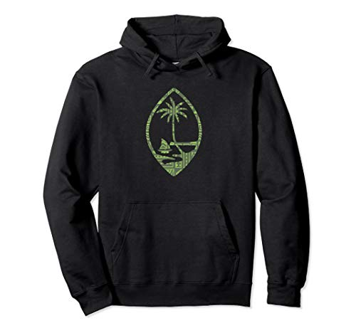 Guam Seal With A Cool Polynesian design Pullover Hoodie