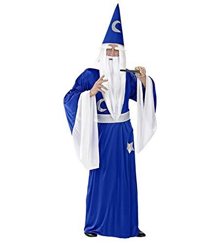 Widmann - CS923510/L - Costume magicien, L, Bleu