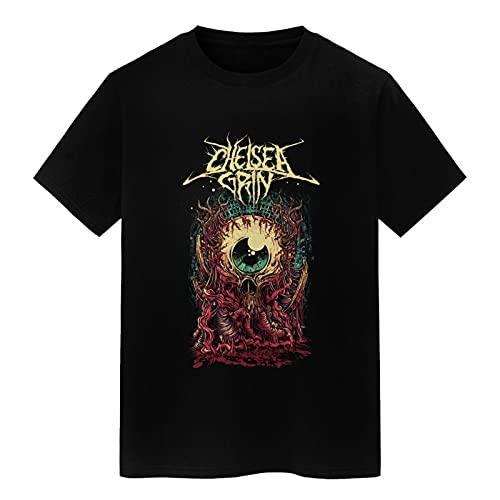 summerator Men's Graphic Tees - Chellsea Grin T Shirts for Men Black X-Large