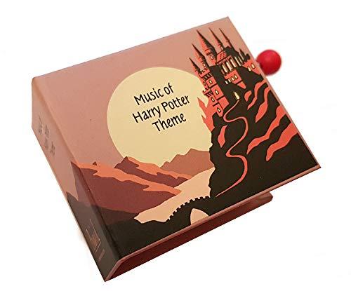 Boîte à musique à manivelle en forme de livre - Le thème d'Harry Potter - Hedwig's theme - Harry Potter à l'école des sorciers (John Williams)