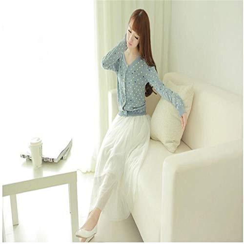 MIBKLPG Röcke Für Frauen Normallackkleid Lange Röcke Süße Hohe Taillen Lange Röcke Ballkleid Knöchellange Röcke Weiß