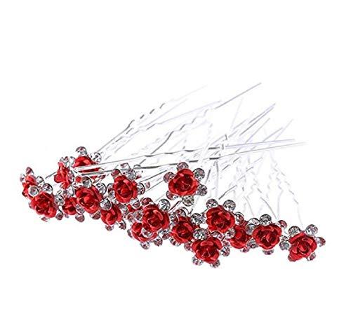 1 grande épingle à chignon fleur perles strass accessoire cheveux mariage soirée