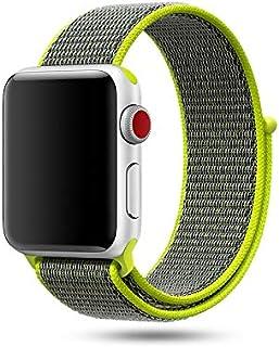 Apple Watch Kordon 38 mm - 40 mm Seri 2 3 4 5 Spor Loop Dokuma Flash