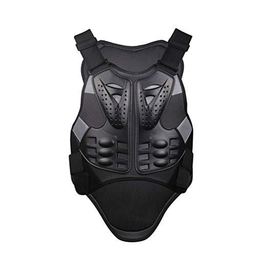 ABOOFAN Chaleco de motocicleta Racing Motorcross motocicleta Cuerpo Armadura sin mangas espalda engranaje pecho engranaje hombres tamaño L (negro)