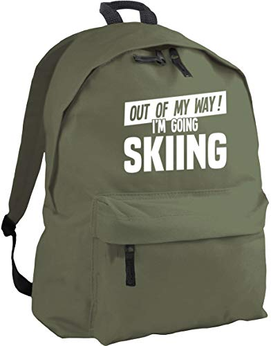 HippoWarehouse Out of My Way I'm Going Skiing Backpack ruck Sack Dimensions: 31 x 42 x 21 cm Capacity: 18 litres