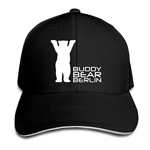 Emonye Unisex Adult Buddy Bear Berlin Vintage Cotton Baseball Cap Adjustable Low Profile Dad Trucker Hat Black