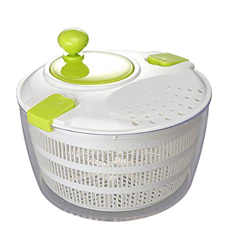 Salad Spinner, Large Salad Spinner And Keeper - 4L Lettuce Spinner Vegetable Washer Dryer with Large Salad Bowl, Fruit Veggie Wash & Salad Making, BPA Free,White