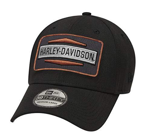 Harley-Davidson Herren Classic Logo Patch 39Thirty Cap -  Schwarz -  SMALL