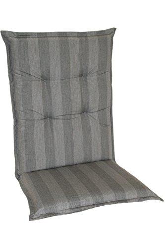 Casa Mina Polsterauflage Mittellehnerauflage 110x50cm Silber, Dessin 1604