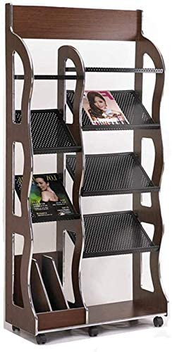 HUIJ Floor Standing Magazine Rack Cheap mail order sales Wooden Selling and selling Rac